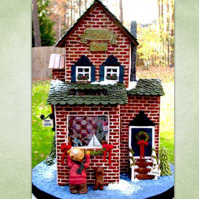 Gingerbread toy shop.