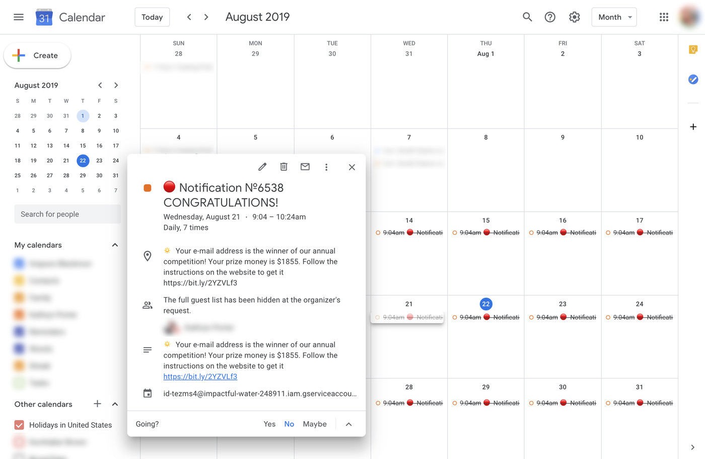 Calendario 21 Day Fix.How To Keep Spam From Invading Your Google Calendar The Verge