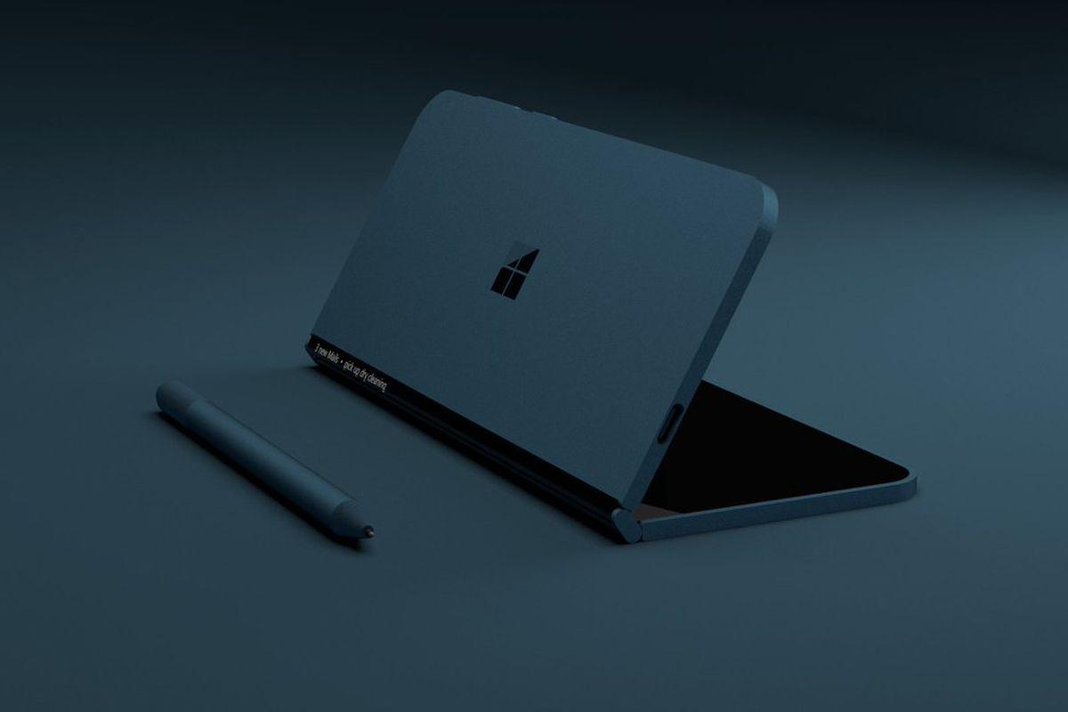 "A concept of Microsoft's secret ""pocketable"" Surface device"