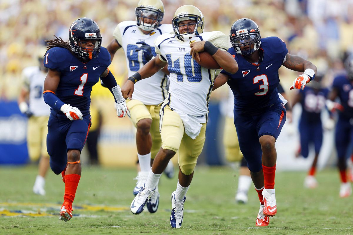 Virginia spent the day chasing after running backs with little success