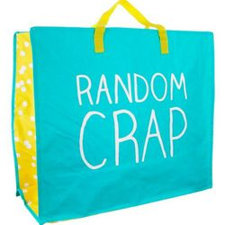 """Happy Jackson stuff bag, $8 at <a href=""""http://bit.ly/50sm69"""">Tabletop</a>"""