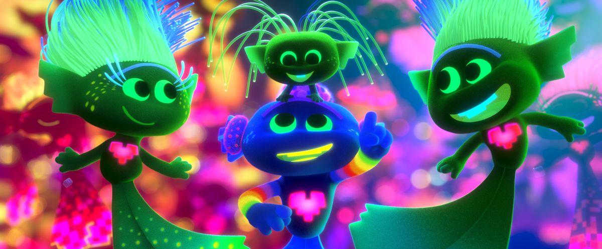 "King Trollex (Anthony Ramos), center bottom, in DreamWorks Animation's ""Trolls World Tour,"" directed by Walt Dohrn."