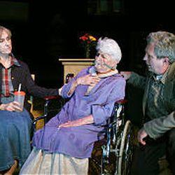 "Anita Booher, left, Joan Erbin and Joe Cronin in ""Man From Nebraska."""