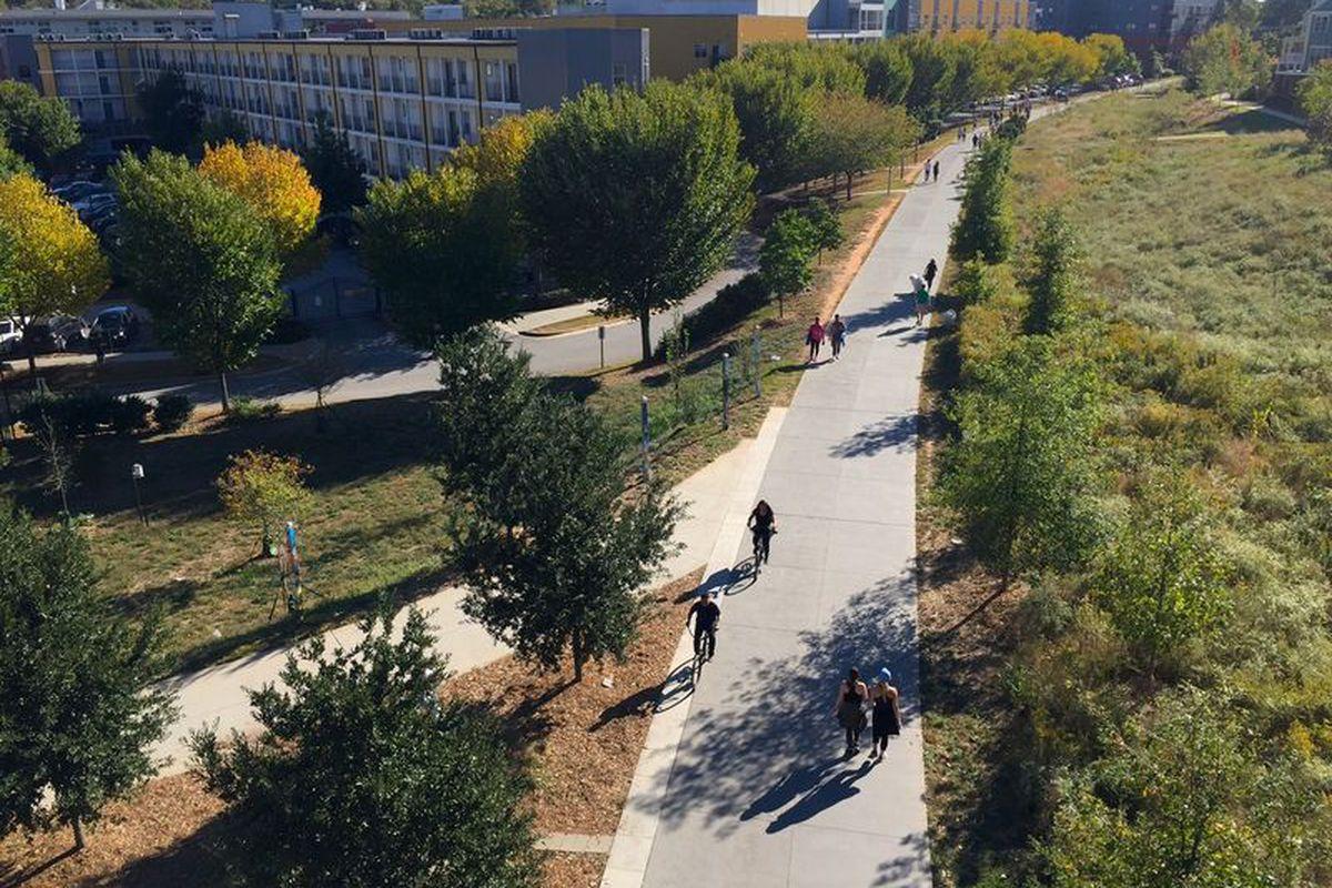 A photo of the Atlanta Beltline's Eastside Trail.
