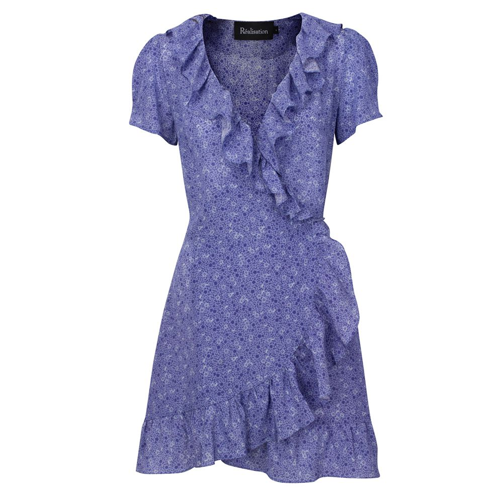 purple mini wrap dress