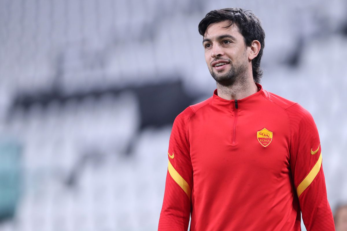 Javier Pastore of As Roma looks on before the Serie A match...