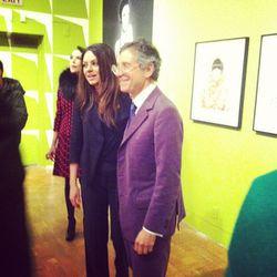 Mila Kunis with MOCA director, Jeffrey Deitch.