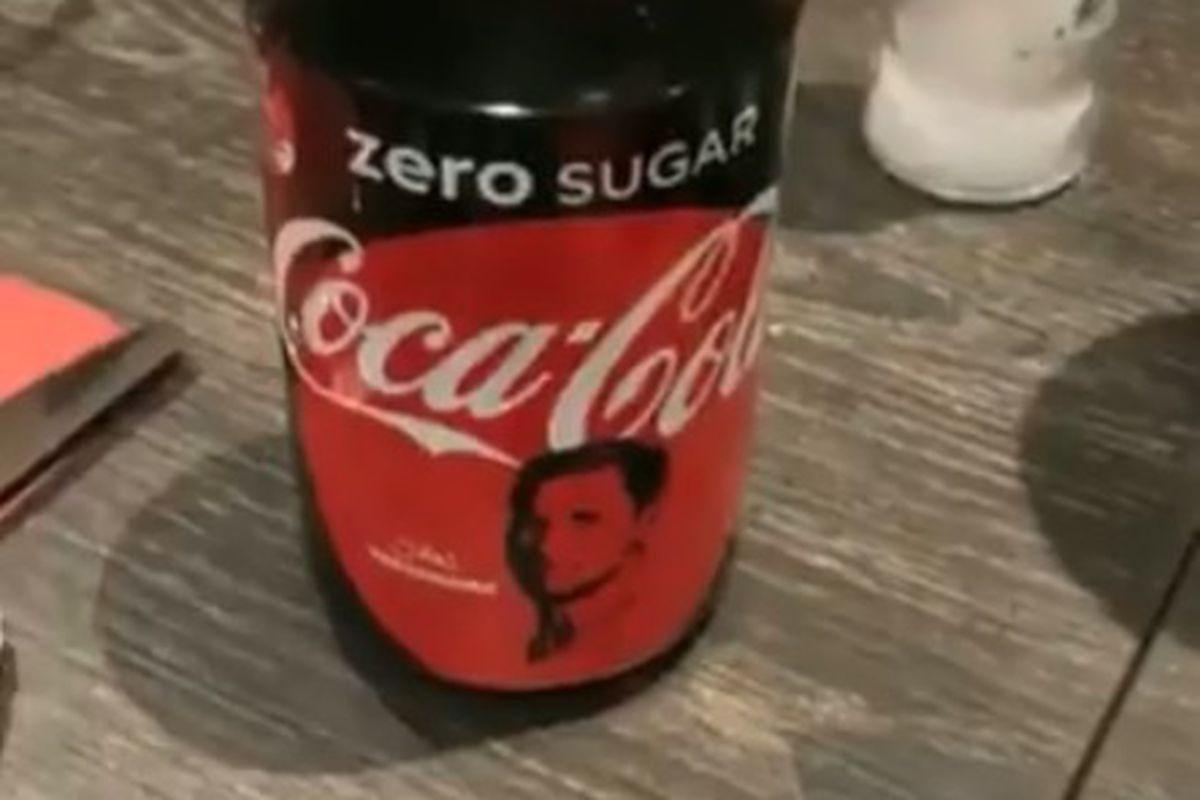There are Coke Zero cans in Belgium with Jan Vertonghen's