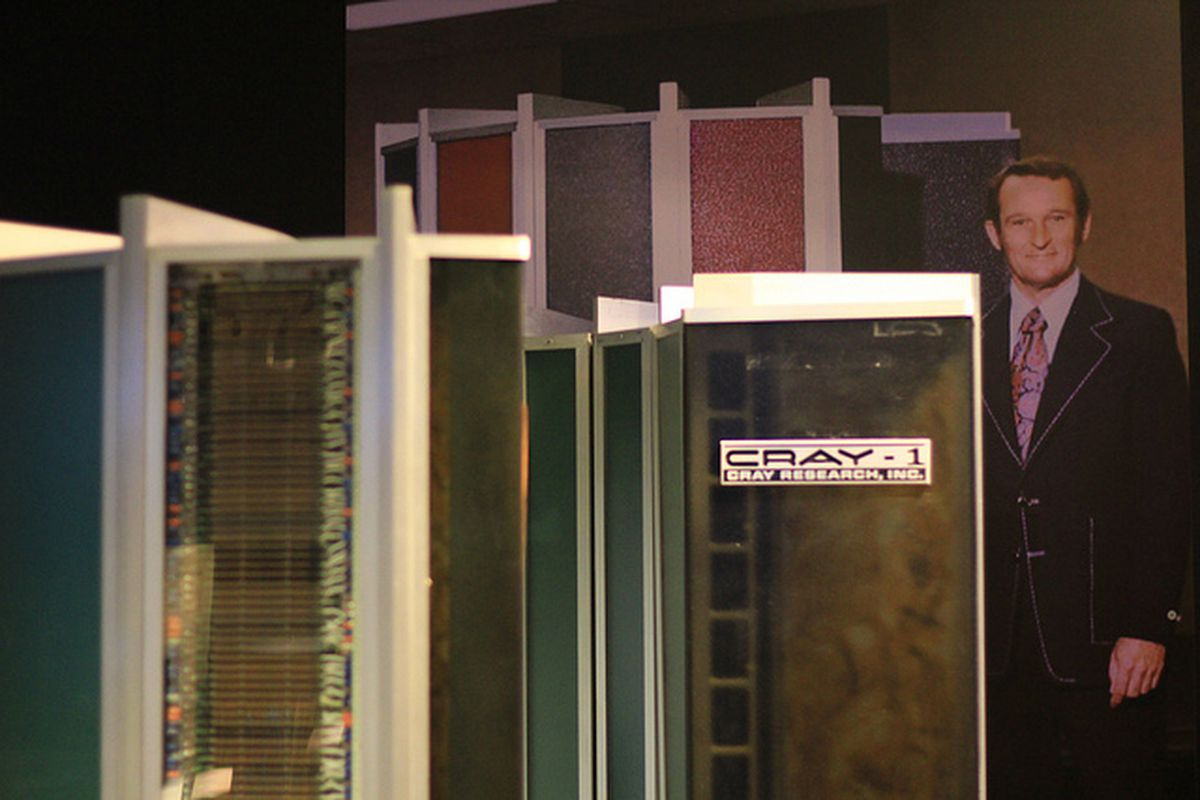 The Cray-1 supercomputer and its creator, Seymour Cray.