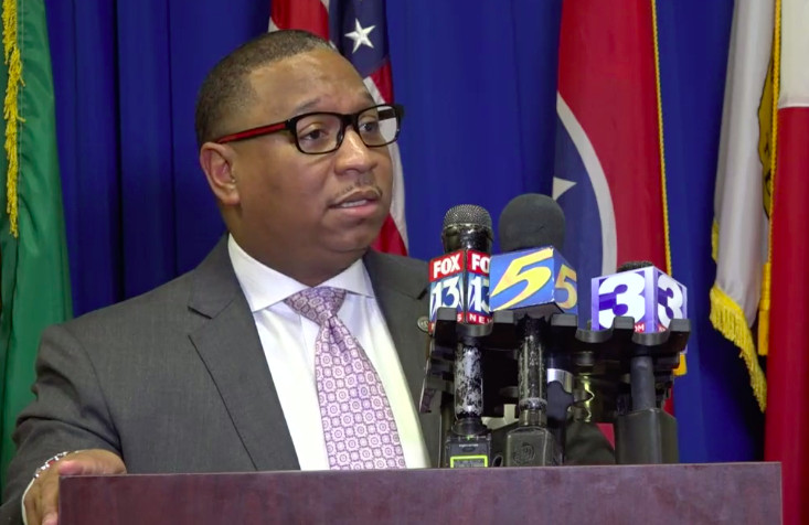 Superintendent Joris Ray at Wednesday's press conference.