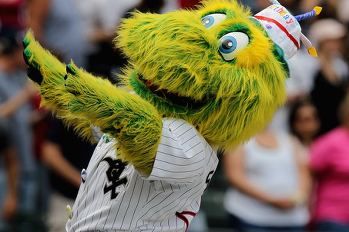 Were you aware that the White Sox had a mascot? I sure wasn't.