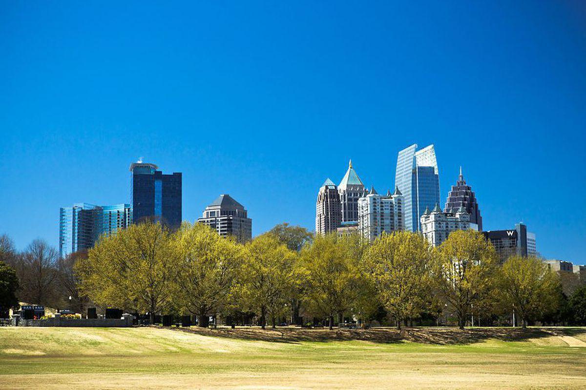 A photo of Piedmont Park in Atlanta.