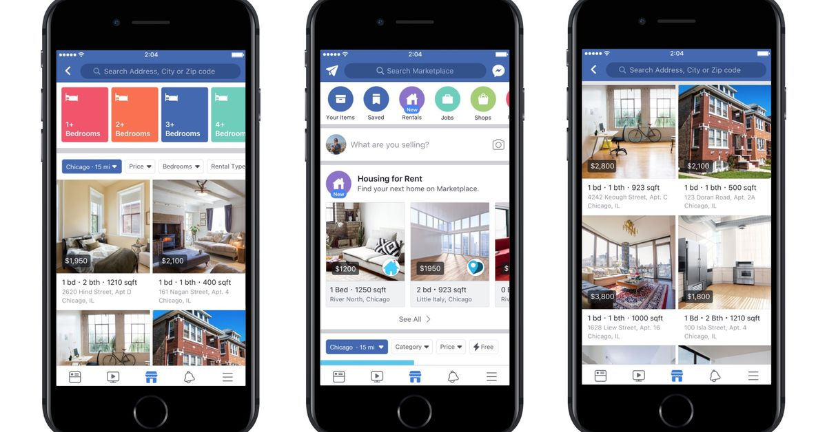 Facebook Marketplace now lists houses and apartments for ...