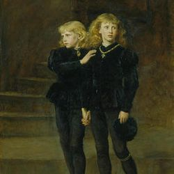 """""""The Princes in the Tower,"""" by Sir John Everett Millais,  1878, oil on canvas."""