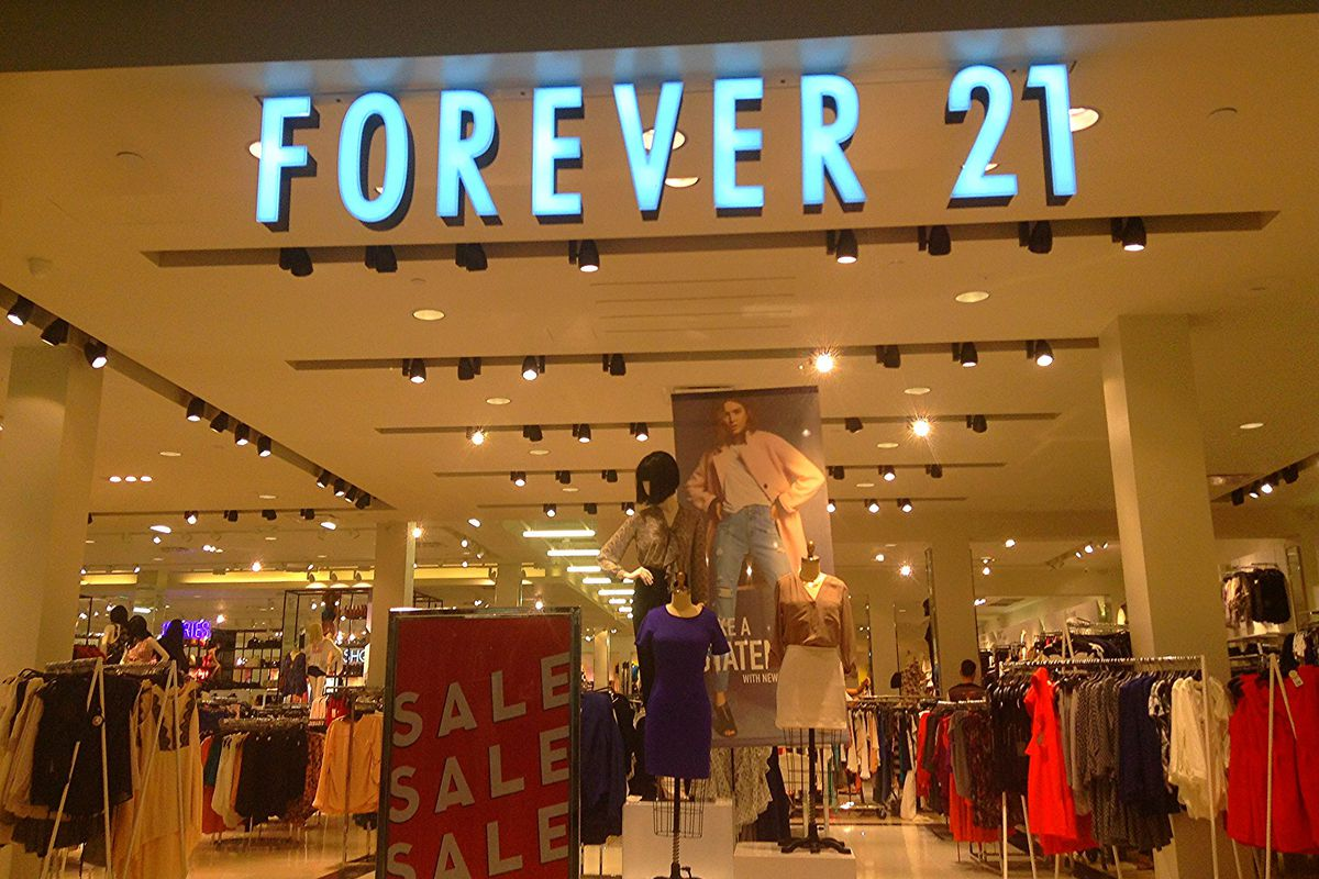 The exterior of a Forever 21 store