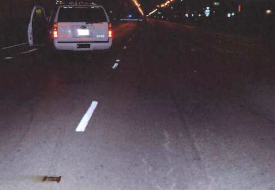 Then-Chicago Police Capt. Kevin Navarro's SUV after a 2011 accident with a motorcycle rider.