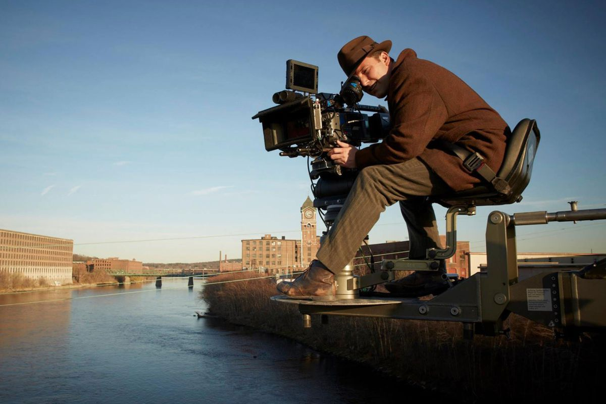Ben Affleck behind the camera on the set of Live By Night