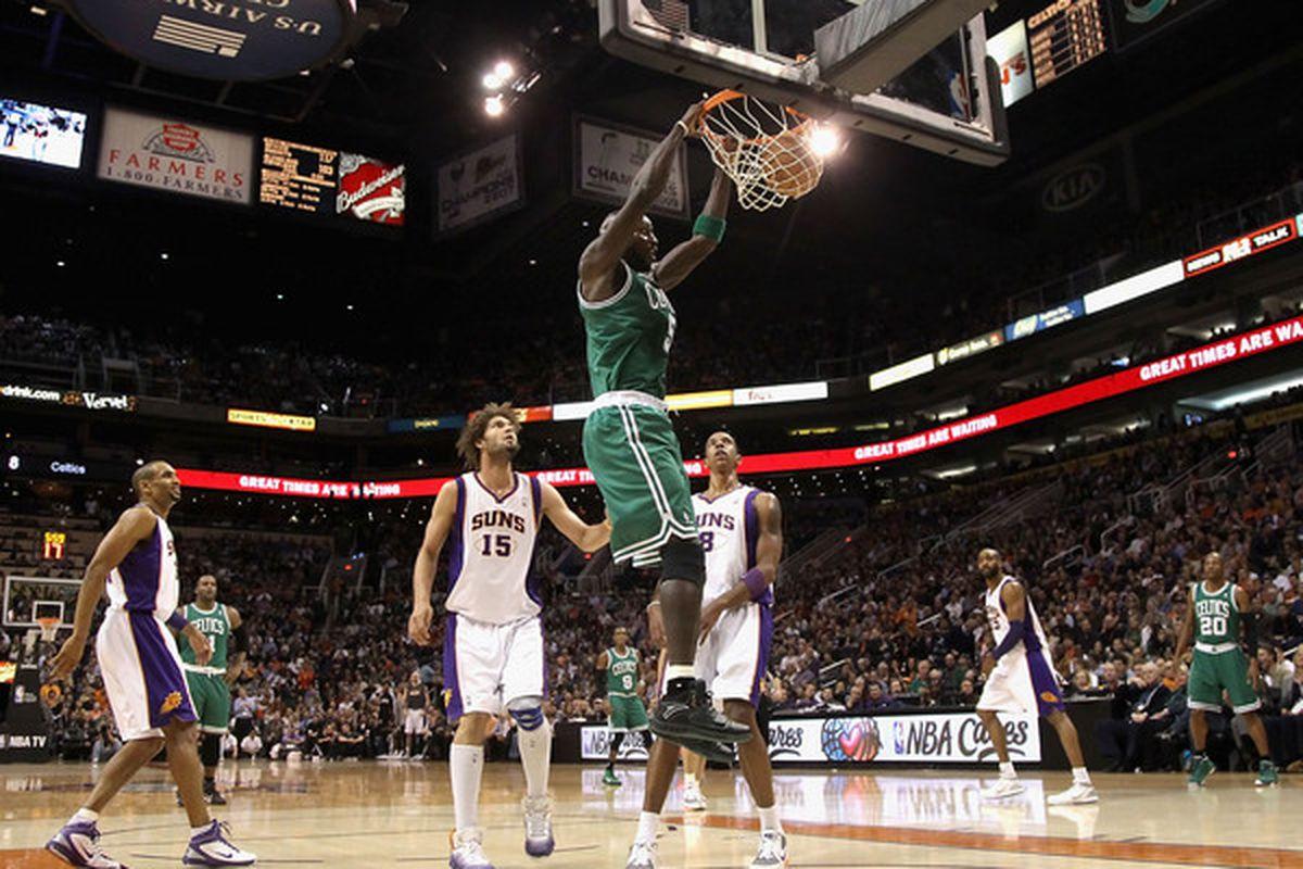 The Suns show the Boston Celtics how they play defense in Arizona.