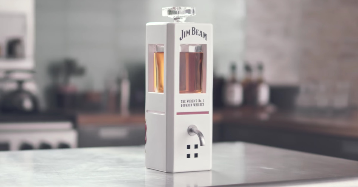 Jim Beam is selling a smart decanter that pours whiskey on command