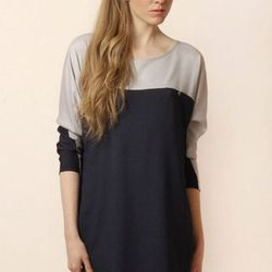 """<b>Paul NKC</b> """"Duster"""" colorblock dress from Chouchounette, <a href=""""http://www.shoptiques.com/products/duster-color-block-dress"""">$80</a>."""