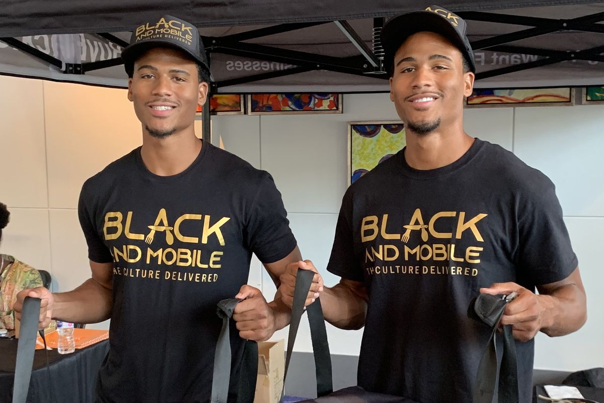 David Cabello and Aaron Cabello, owners of Black and Mobile Delivery Service
