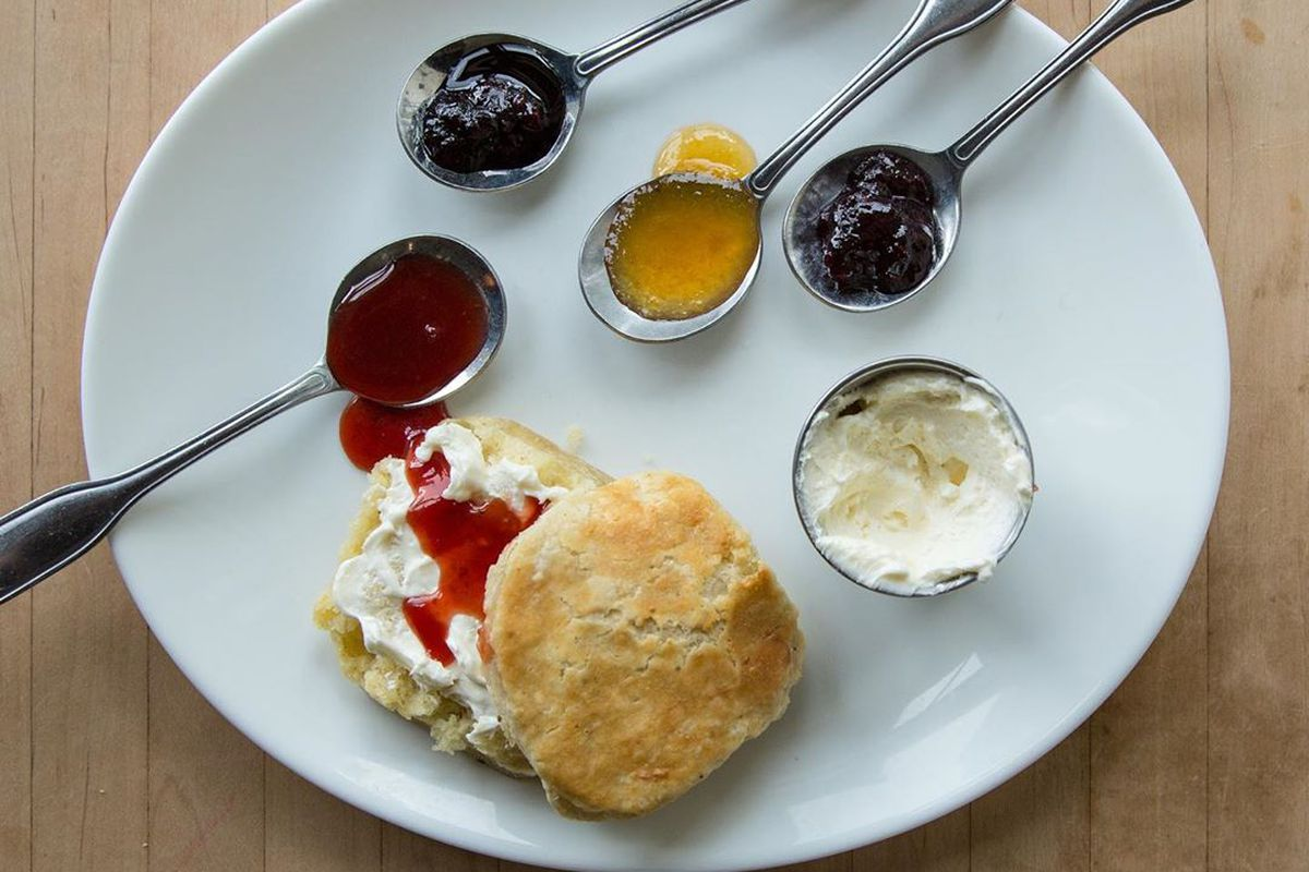Biscuit on a plate