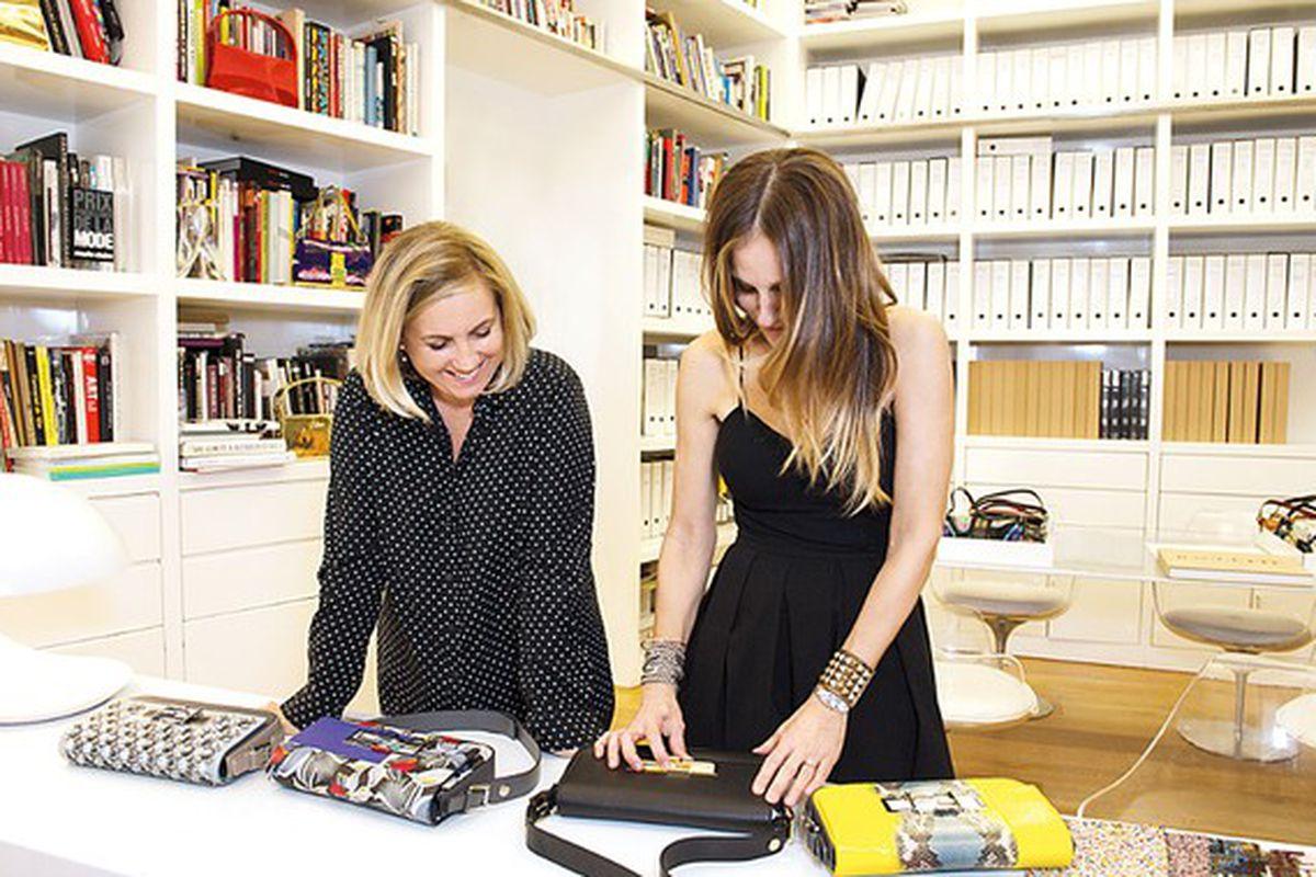 "Photo: <a href=""http://www.wwd.com/fashion-news/designer-luxury/celebs-design-fendi-for-charity-8111636"">WWD</a>"