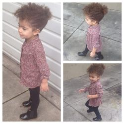 American Apparel leggings, Zara Kids top and boots