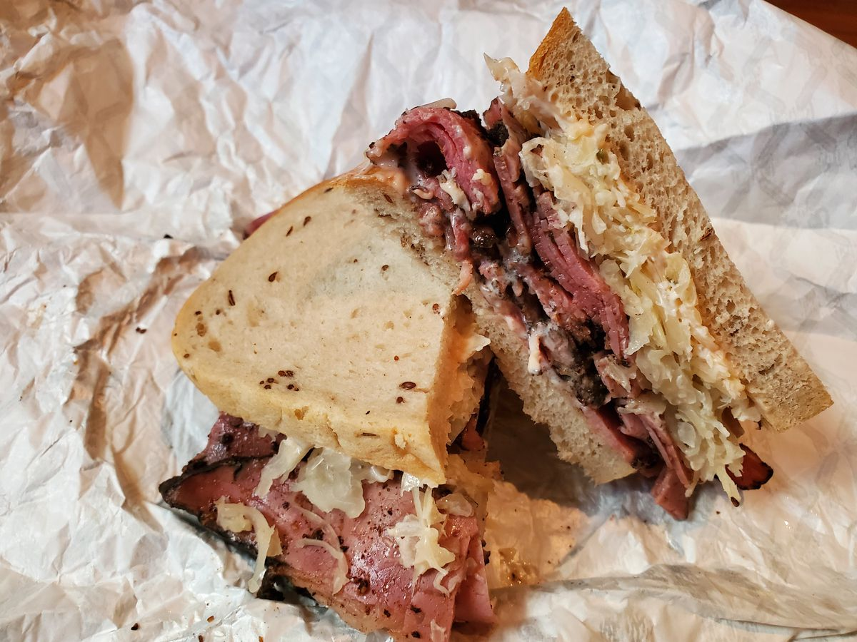 A pastrami sandwich from Loeb's