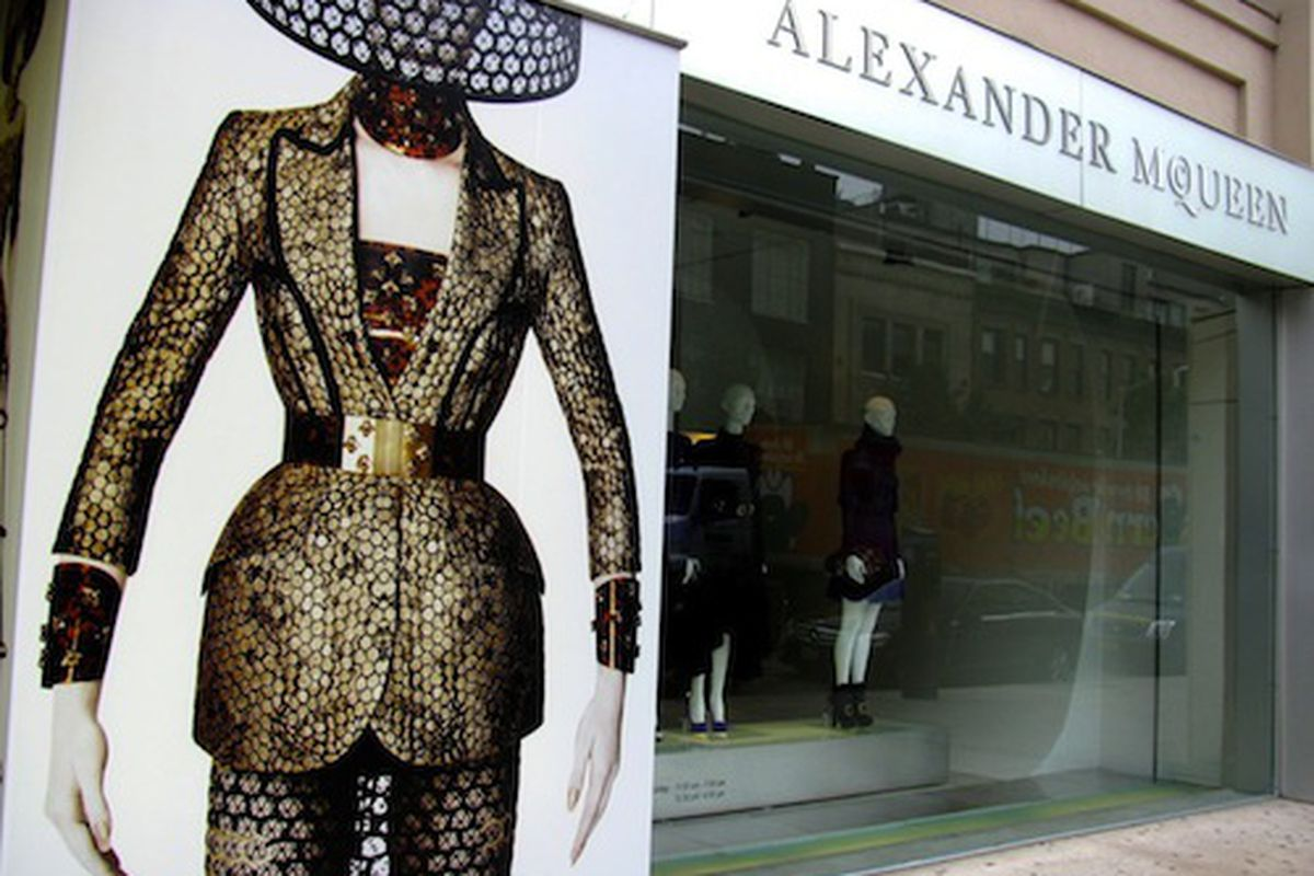 The former Alexander McQueen store on 14th Street