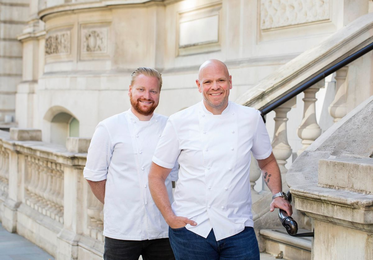 Chef Tom Kerridge and Nick Beardshaw, who will open Kerridge's Bar and Grill at the Corinthia Hotel in September