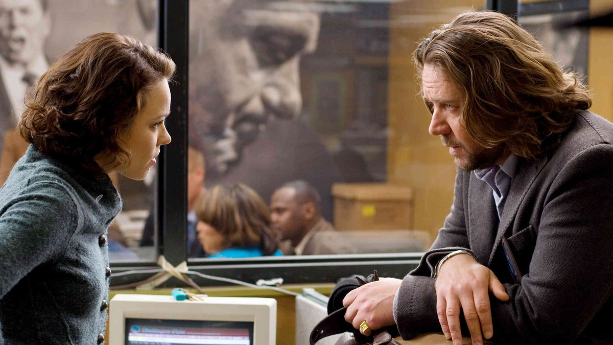 Rachel McAdams and Russel Crowe in State of Play