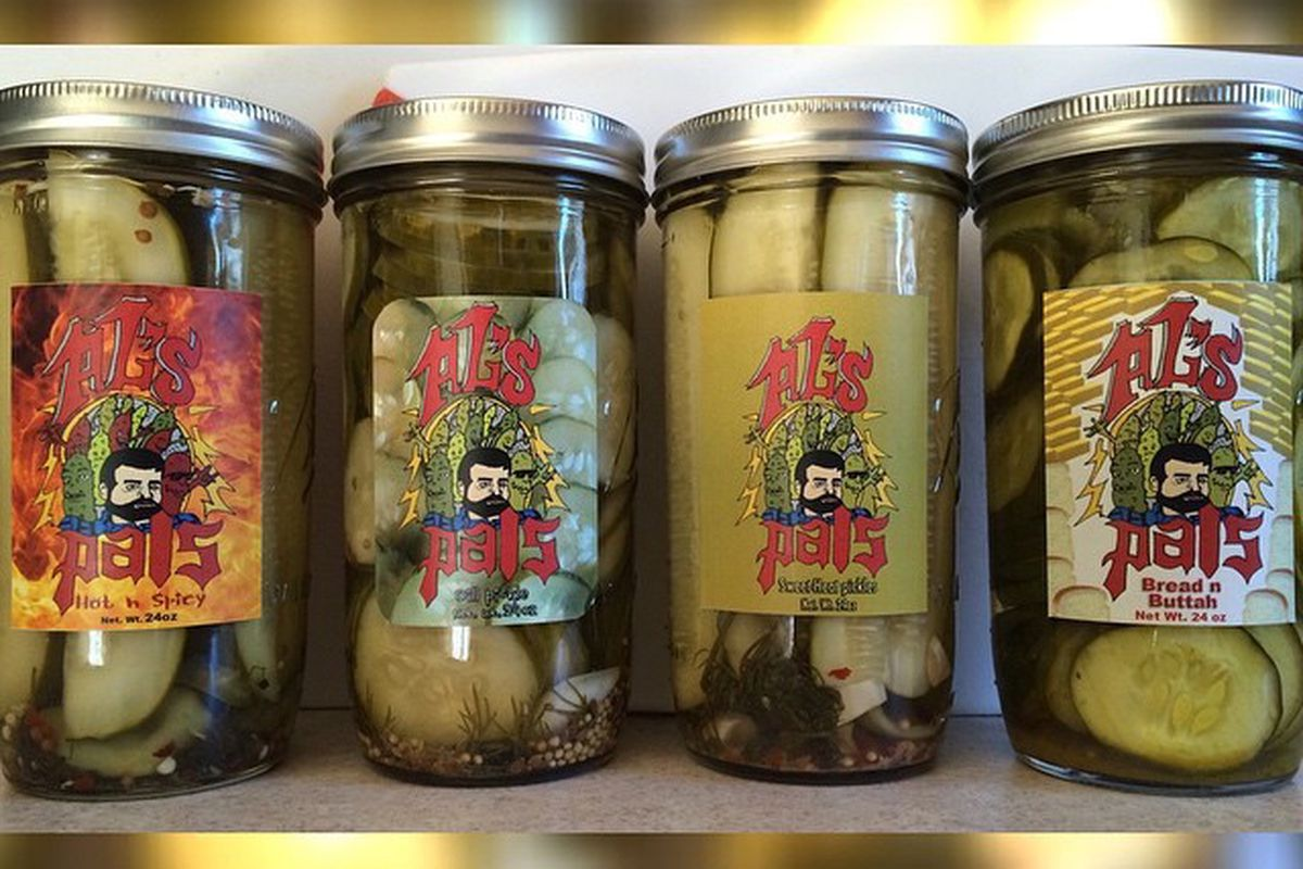 Some of the currently available stock of Al's Pals Pickles.