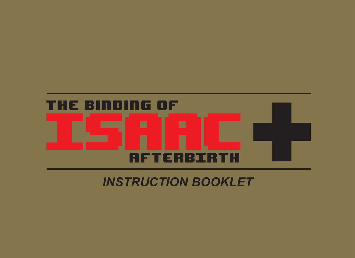The Binding of Isaac: Afterbirth+ instruction booklet