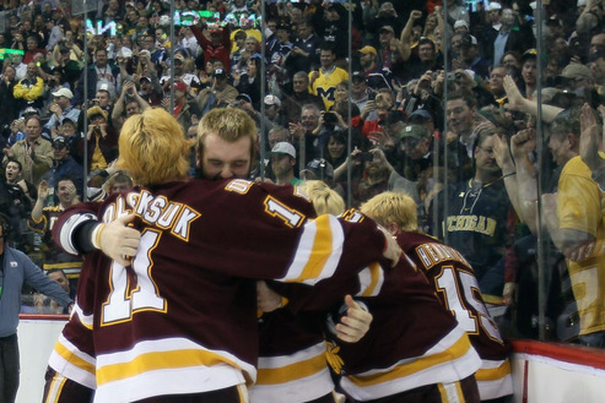 The Xcel Energy Center will rotate hosting the WCHA Final Four with Van Andel Arena in Grand Rapids, MI