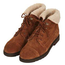 """<b>Topshop</b> Murry Hiker Cuff Boots, <a href=""""http://us.topshop.com/en/tsus/product/shoes-70484/boots-70514/flat-boots-70674/murry-hiker-cuff-boots-2079560?refinements=category~%5b210023%7c208695%5d&bi=1&ps=200"""">$84</a>"""