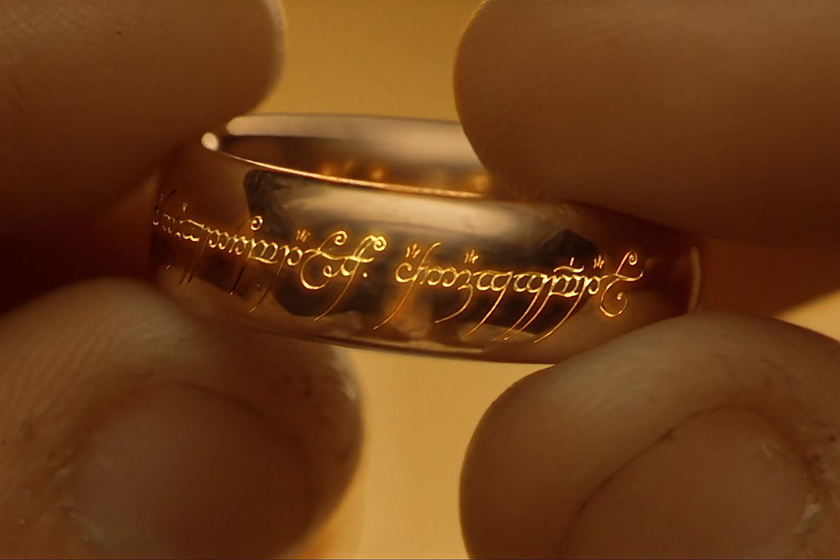 The One Ring, with its elven script revealed in The Fellowship of the Ring.