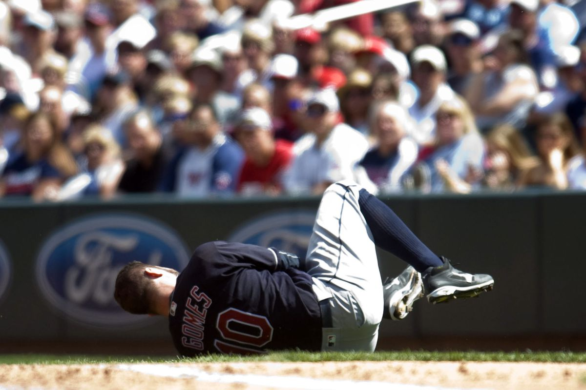 Yan Gomes suffered a separated shoulder in yesterday's game
