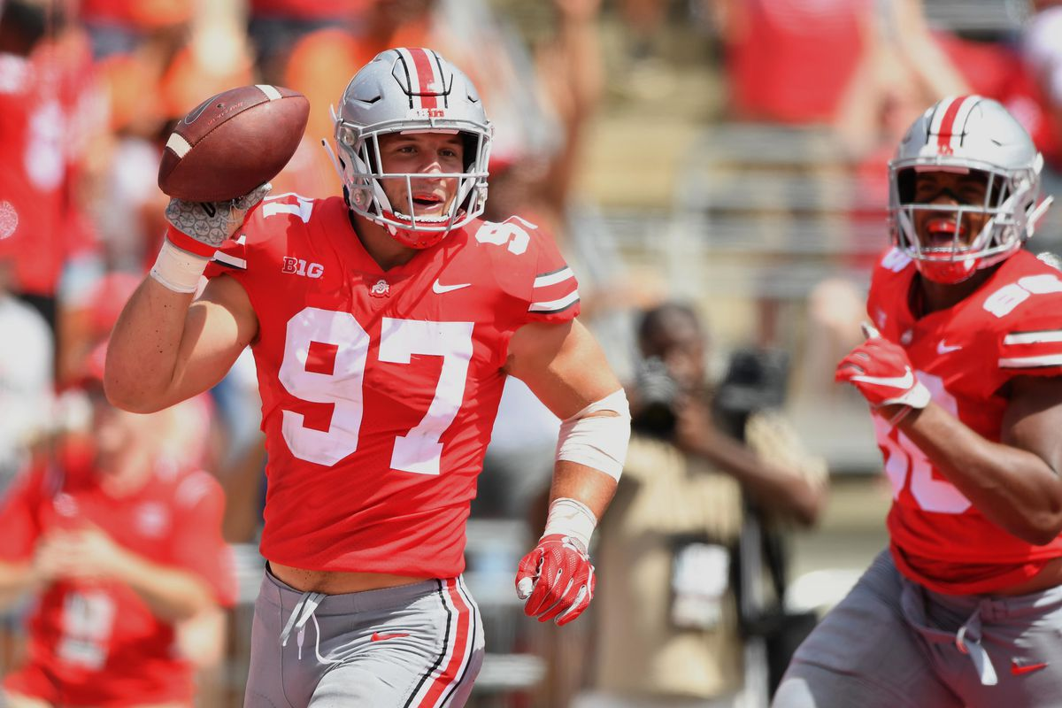 c66588034b8 No. 4 Ohio State will have to face No. 10 Penn State on Sept. 29 without  one of its most talented players. On Sept. 20