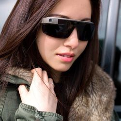 Amanda Rosenberg wearing sunglass frames designed by Isabelle Olssen