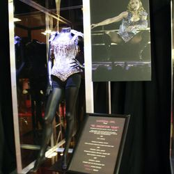 """Madonna wore this beaded corset ensemble, designed by Christian Lacroix, for her """"Re-Invention Tour."""""""