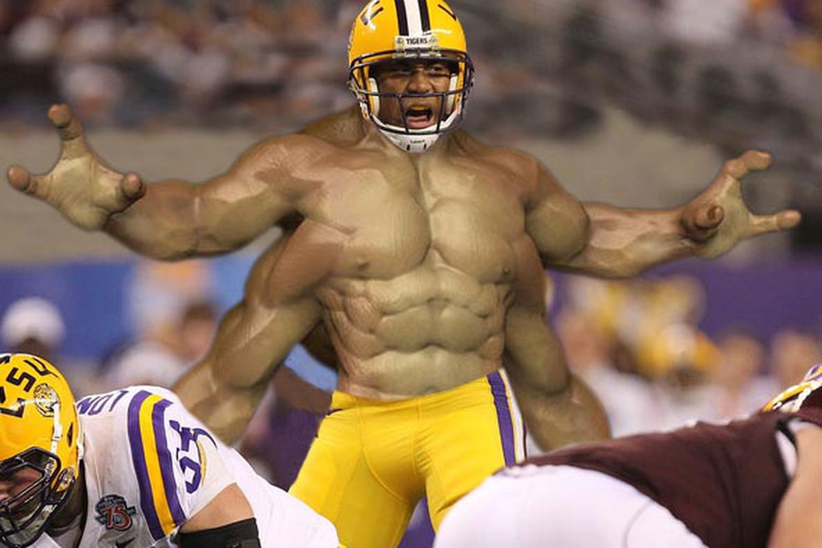 LSU 2nd String Defensive Back Goro calls out a play.