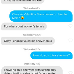 Women's tennis. Psh.