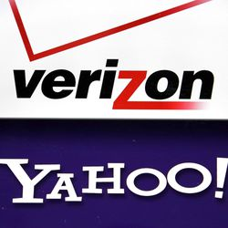 FILE - This Monday, July 25, 2016, file photo shows the Verizon and Yahoo logos on a laptop, in North Andover, Mass. On Tuesday, June 13, 2017, Verizon took over Yahoo, completing a $4.5 billion deal that will usher in a new management team to attempt to wring more advertising revenue from one of the internet's best-known brands. Tuesday's closure of the sale ends Yahoo's 21-year history as a publicly traded company. It also ends the nearly five-year reign of Yahoo CEO Marissa Mayer, who isn't joining Verizon.