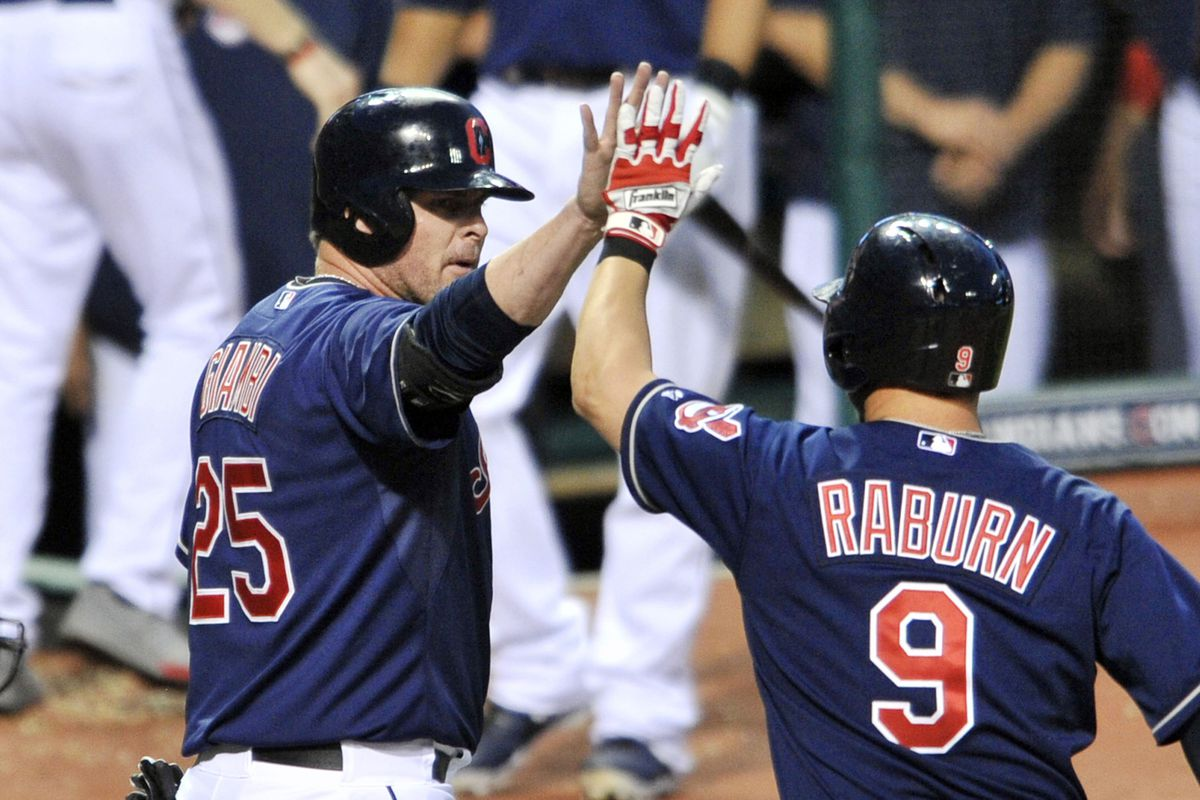 Ryan Raburn and Jason Giambi: role players that made a big difference in the Tribe's 2013 run
