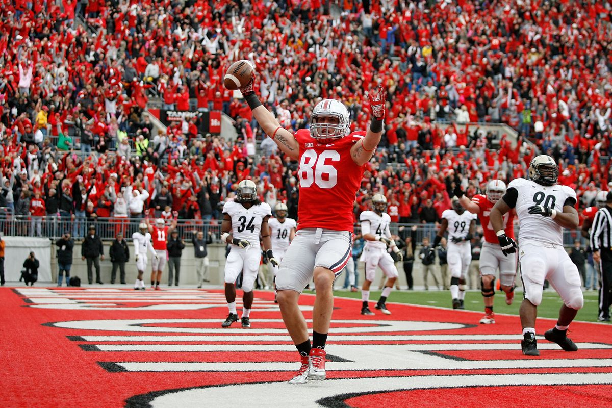 Jeff Heuerman was involved in one of the best and most clutch plays of 2012.