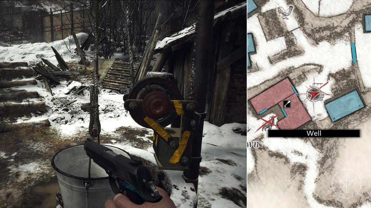 Resident Evil Village lockpick West Old Town map screenshot