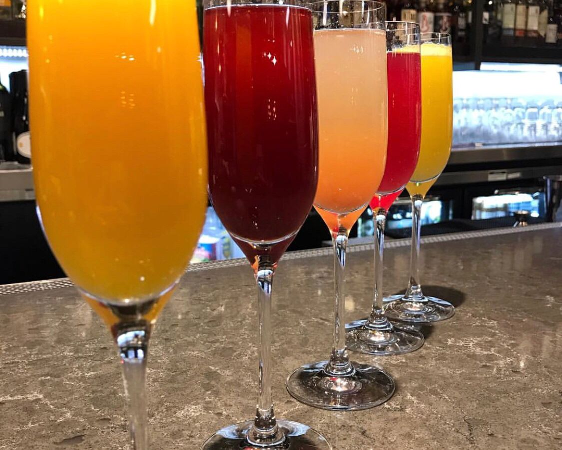 Mimosas at Kitchen Table Squared