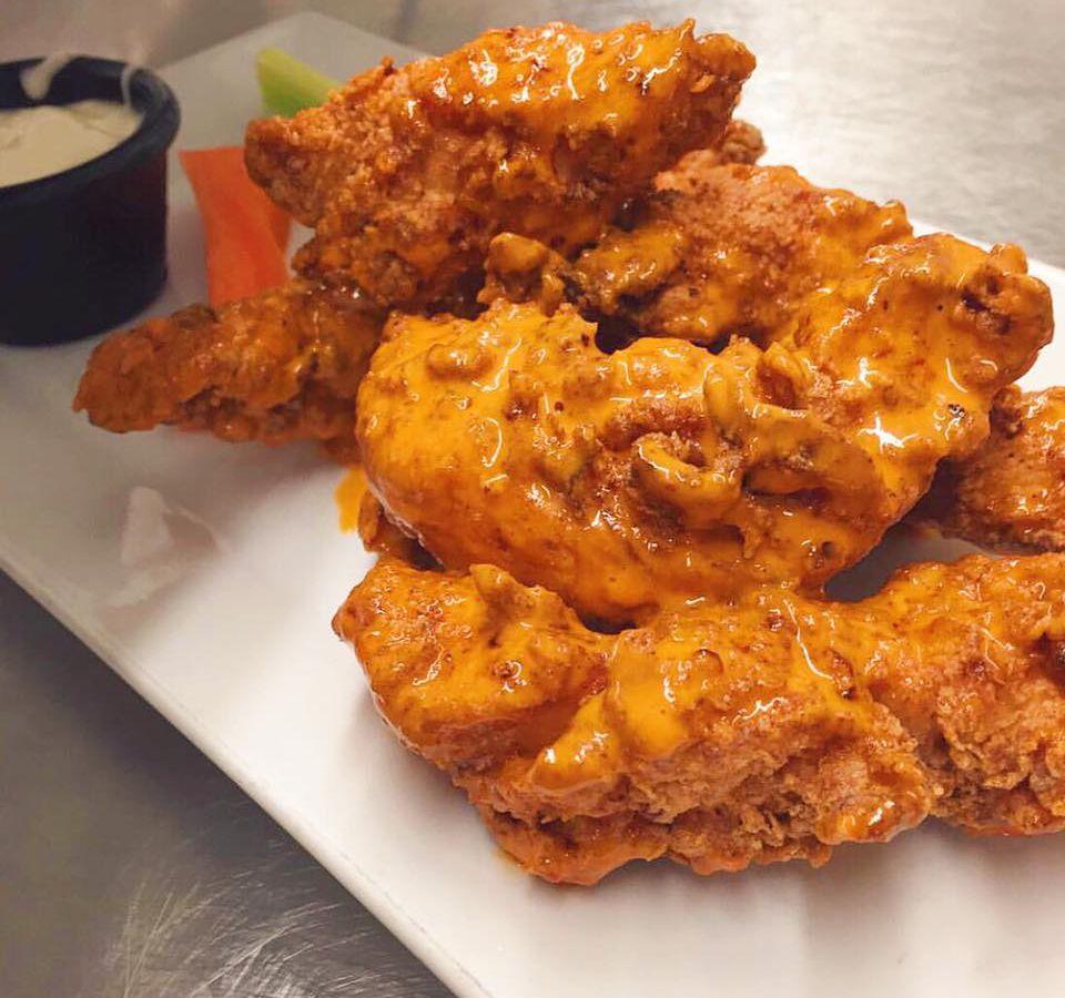 Crispy wings at Hugh O'Neill's