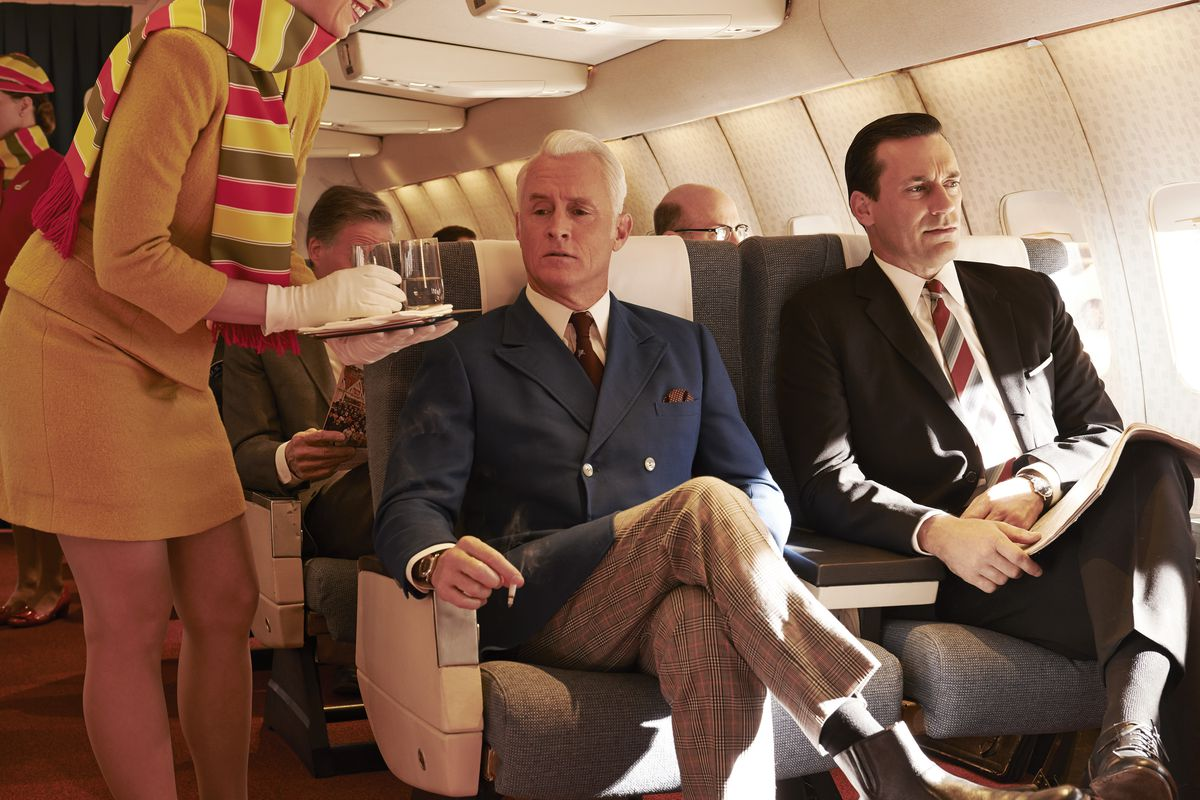 Mad Men's Roger (John Slattery, left) and Don (Jon Hamm) will see their time on our televisions end later this year.